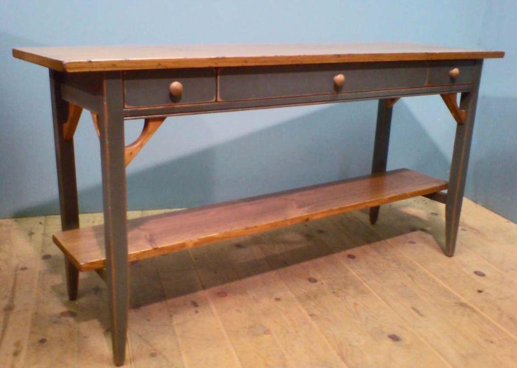 13. Blue sofa table