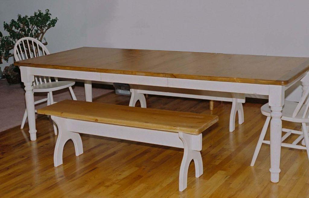 18. white table